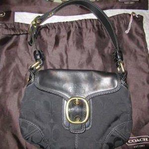 Coach Small Black Hobo Bag